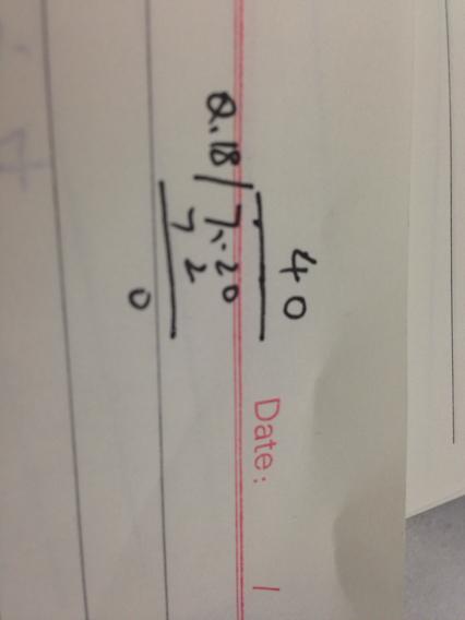 7.2除以18的竖式