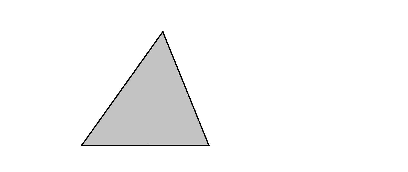 把一个三角形平均分成四份,用阴影表示站三角形面积的图片