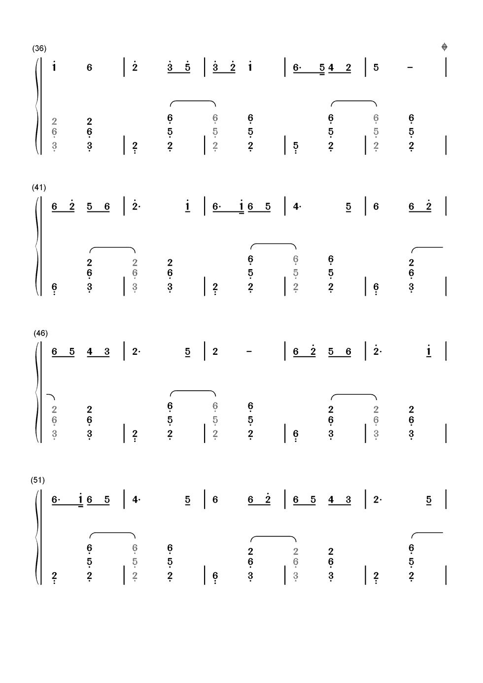 绣金匾简谱并加和弦 电子琴弹奏图片