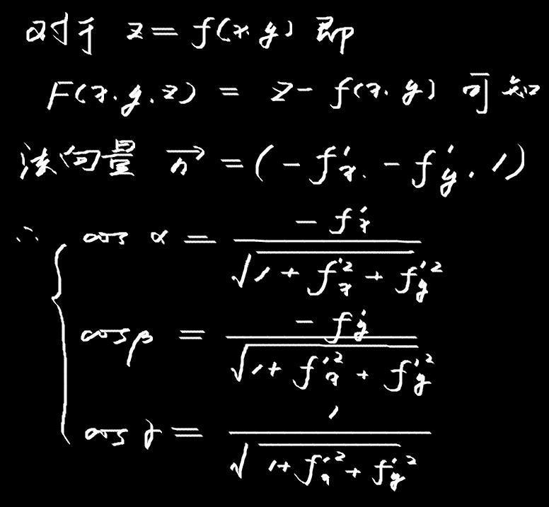 方向余弦和法向量关系