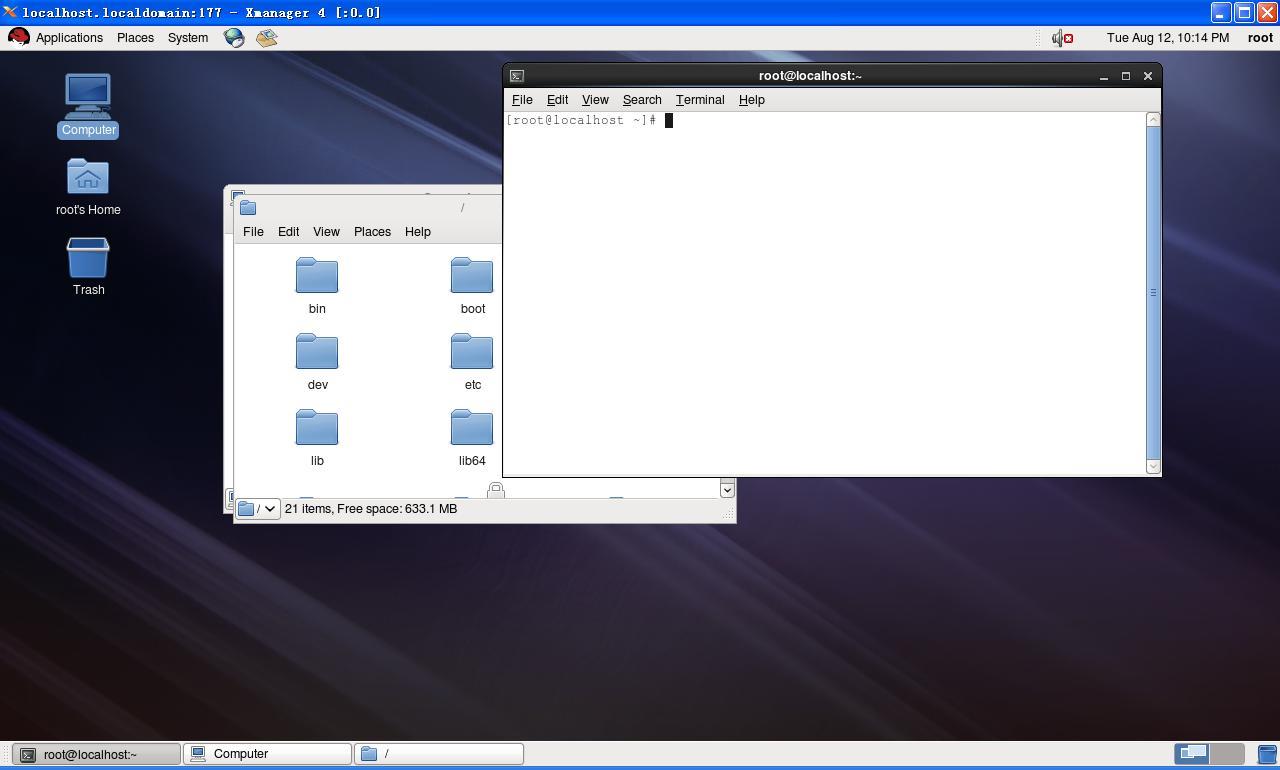 如何在win7下远程桌面远程linux图片