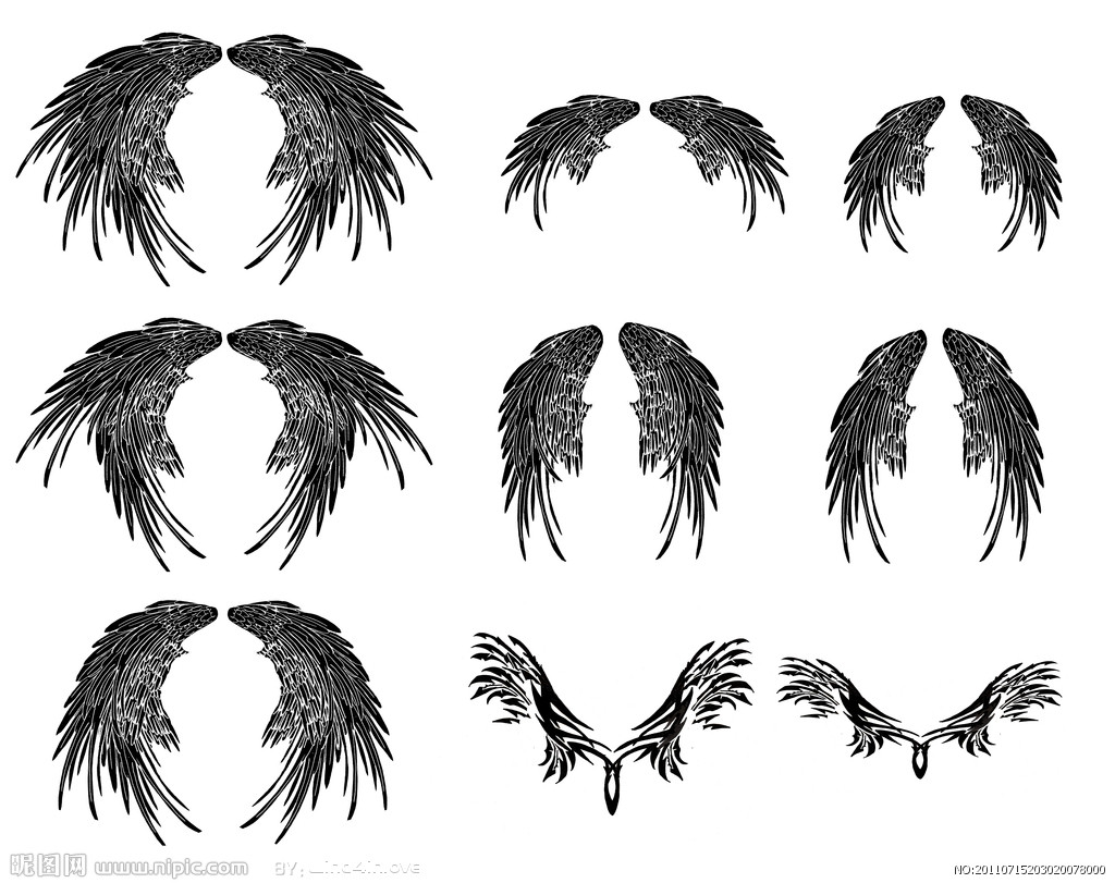 我要手绘天使的翅膀图片图片