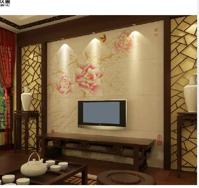 1 2009-11-08 电视背景墙是灰色格子的壁纸,沙发选择什么颜色的?图片