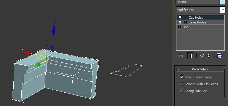 请问各位专家,3dmax如何将两个单独的角线(石膏线)分别切割成45度,使图片