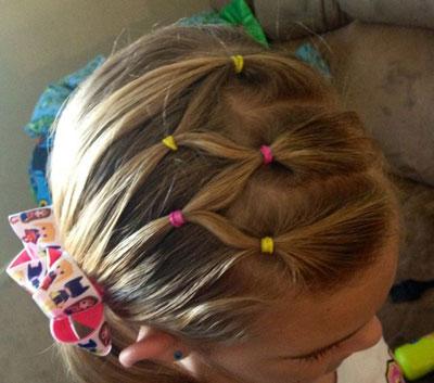 儿童短发的发型艺术有头发短刚好扎起来怎样扎好看图片