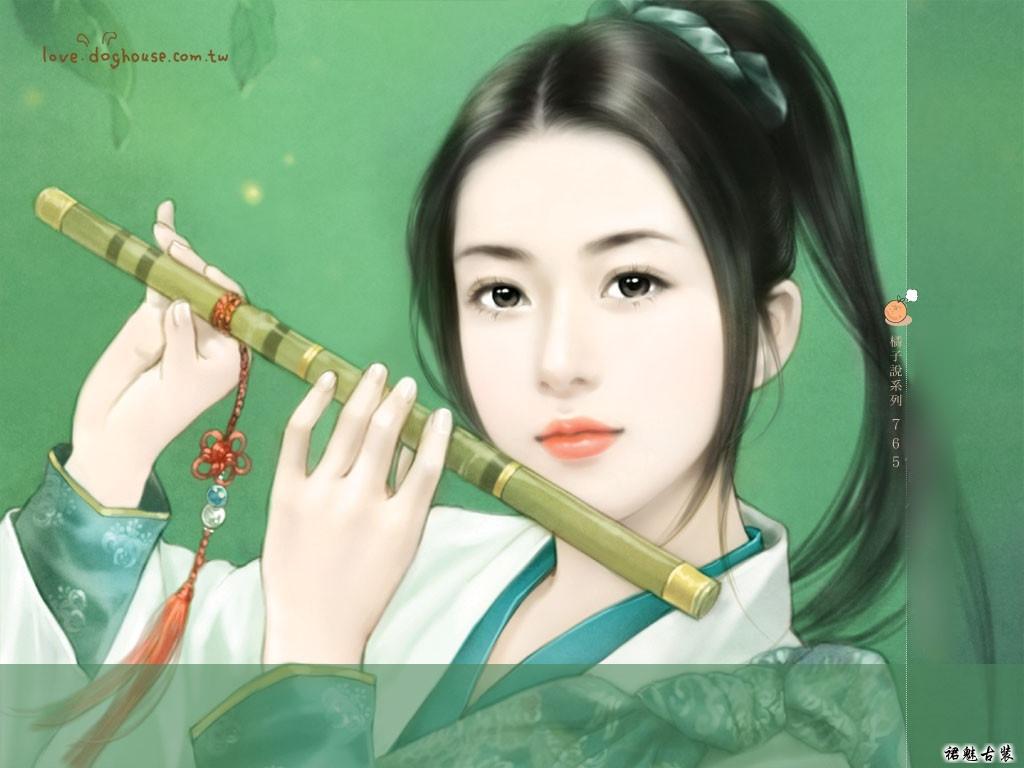 给我一张手绘的清朝女子扮男装的图吧