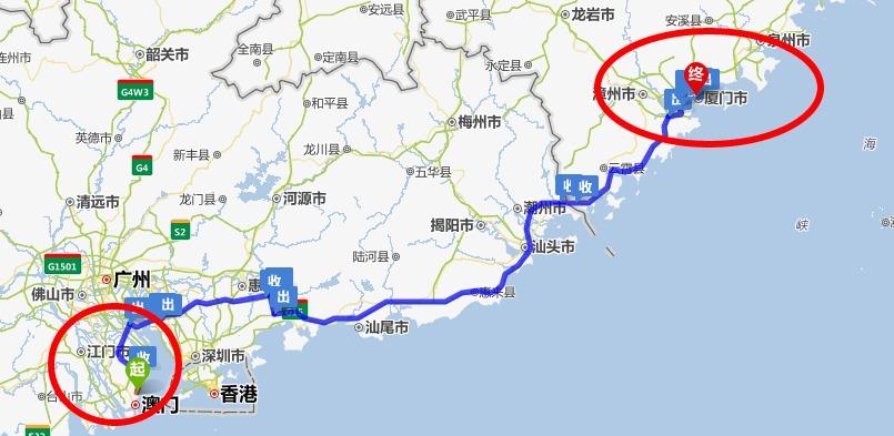 广州自驾厦门沿途景点