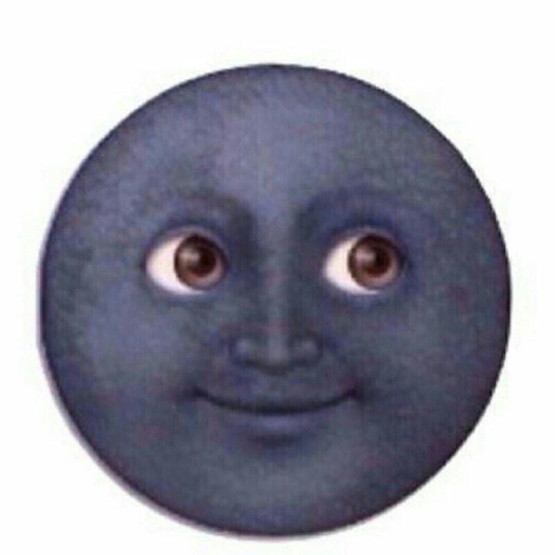 这个黑脸月亮emoji表情电脑怎样打出来?找不到诶?手机图片