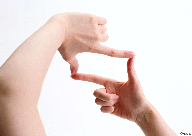 求ps用画笔画出来的手势 简单一点单线条那种 感谢