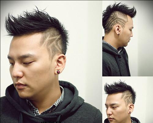 倒三角发型男生 男生发型后面倒三角 正三角发型男生