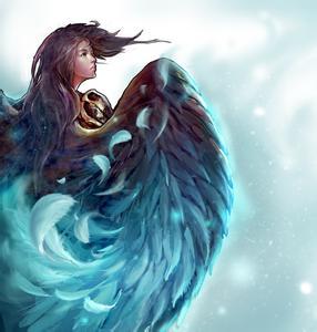藍色羽毛qq頭像,要玄幻的