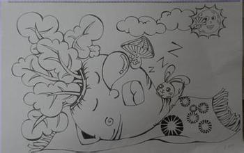 美术设计2013-12-18 六年级画画作品,没有灵感画什么,指点指点,有图画图片