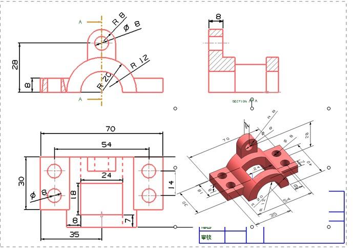 PROE工程图图片
