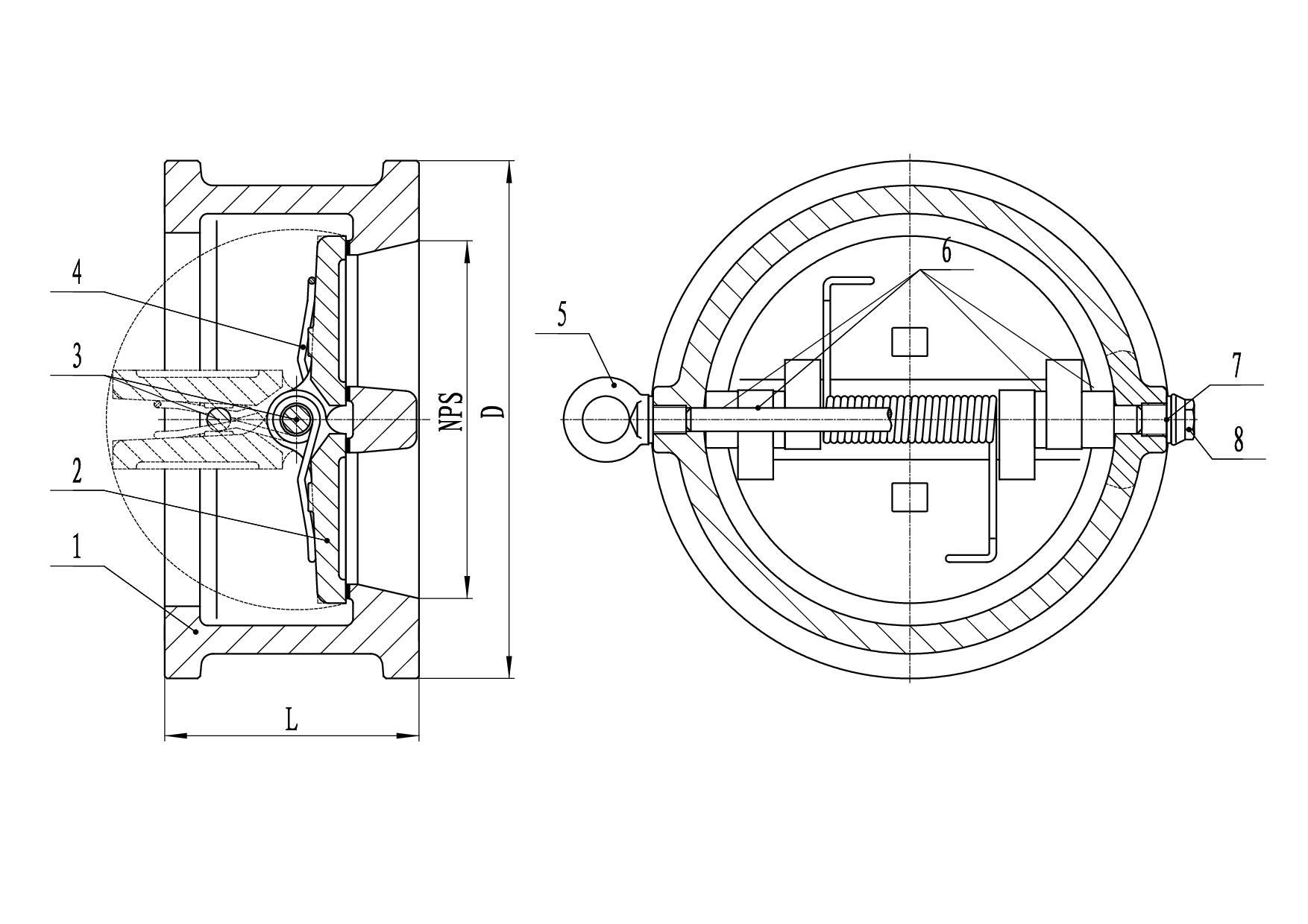 阀门连接形式对夹密封面为rf图片