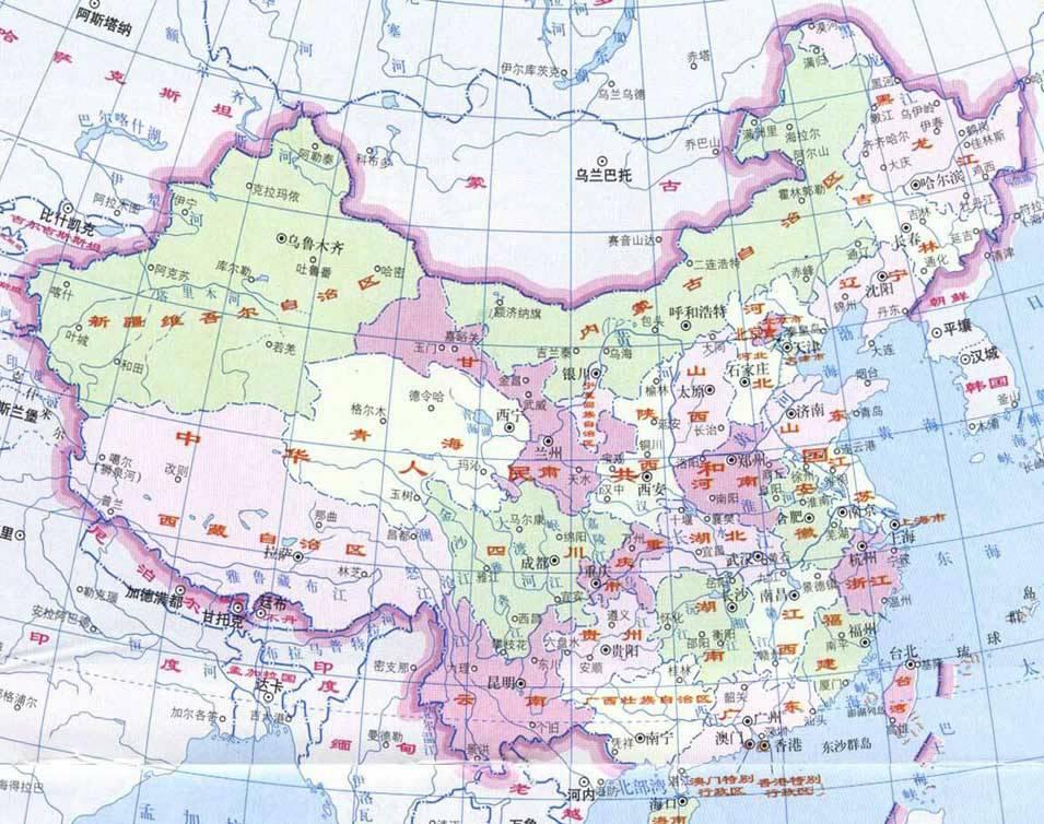 中国地图_发张中国地图