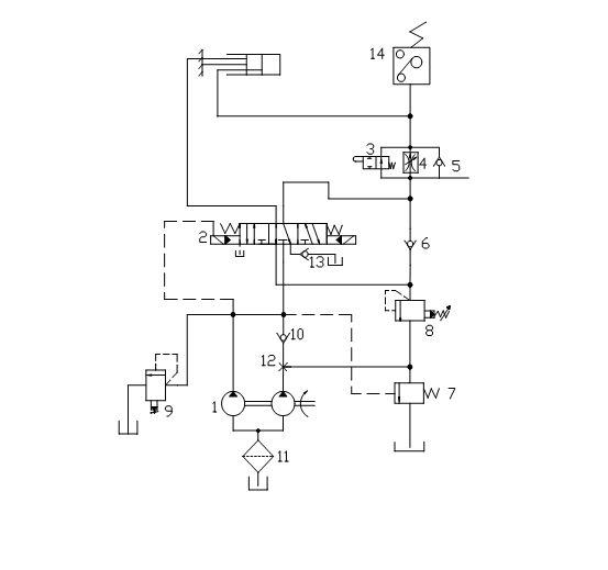求这张液压系统原理图的详细工作过程图片