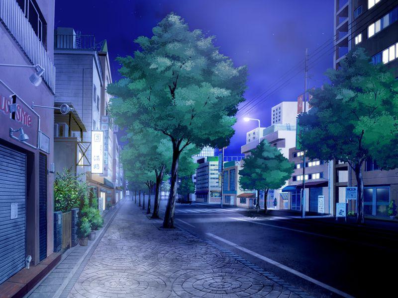 动漫街道场景图片