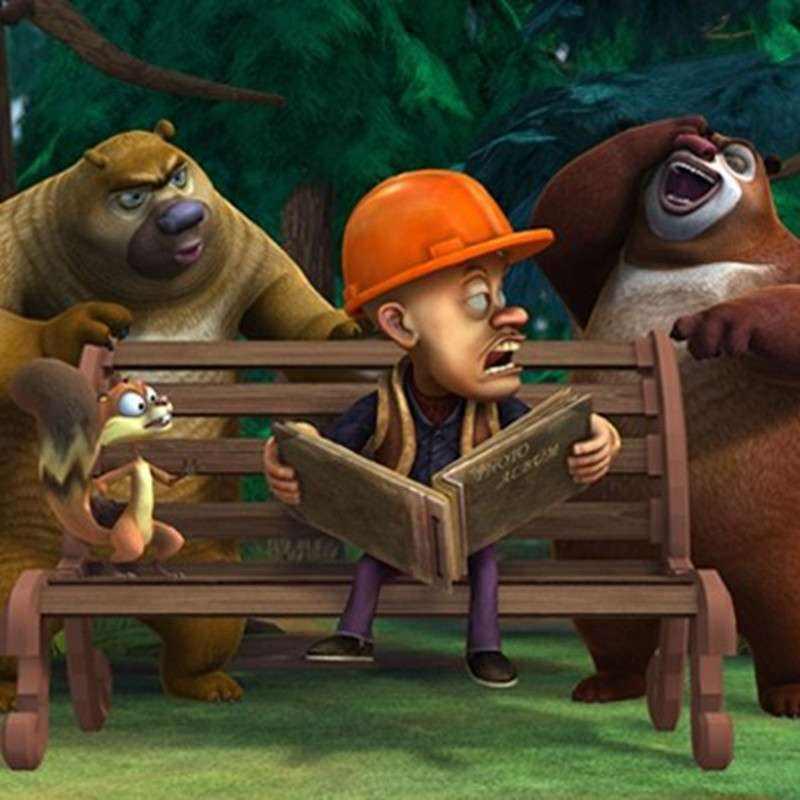 《熊出没》这部动画里面之一的角色就是光头强,快带着小朋友去看看