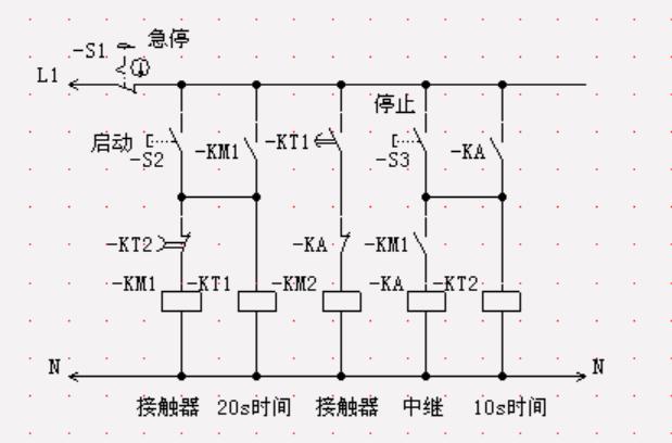 两台电动机m1,m2顺序启动,逆序停止的电气控制线路的电路图图片