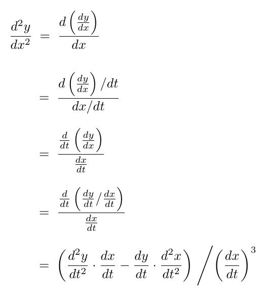 参数方程二阶导数例题