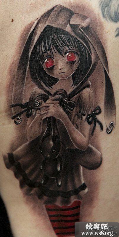 刺青女动漫图片