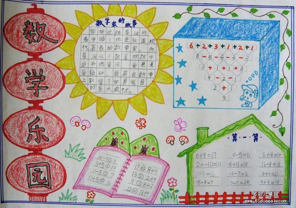 """""""一年级数学手抄报"""