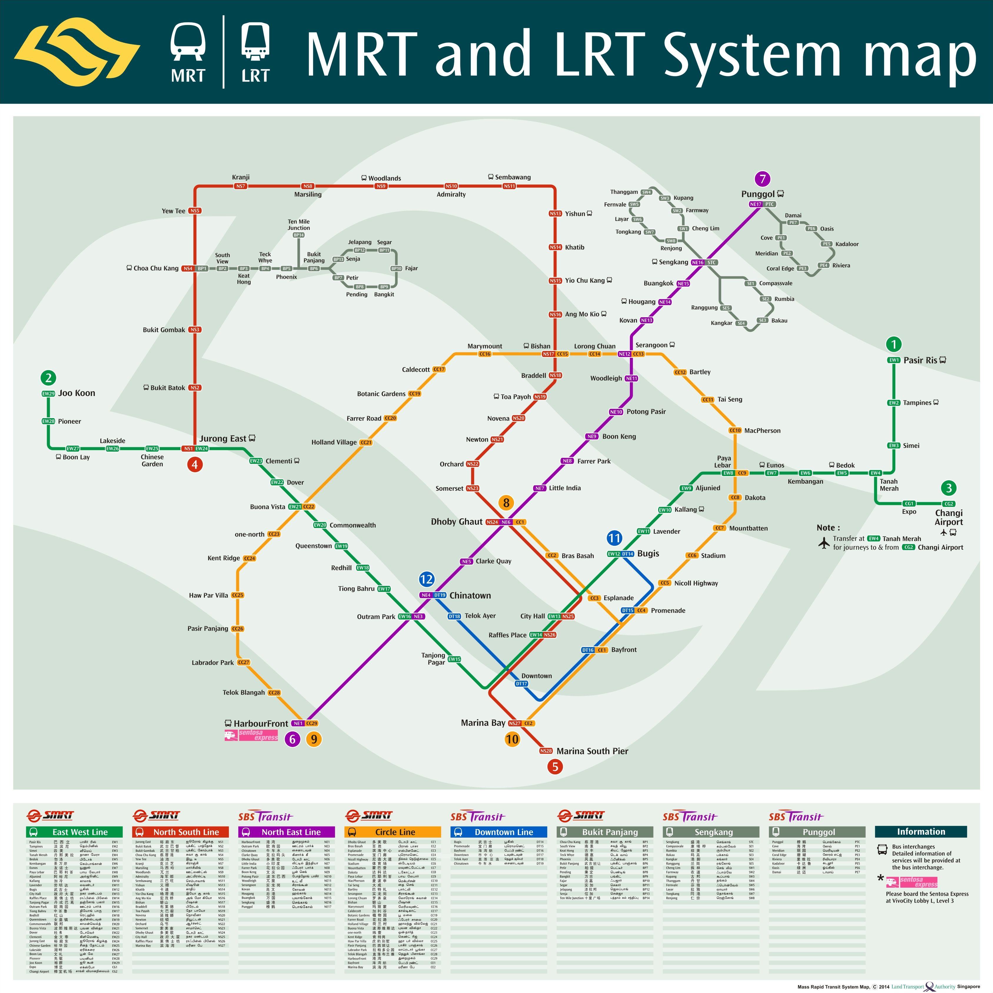 新加坡旅游地图高清中文版