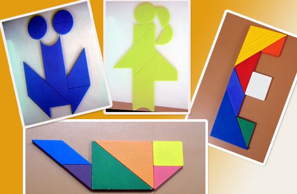 求比较简单的七巧板拼图图案 10副即可 没财富值了 好人帮忙图片