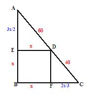 两个正方形请阴影部分面积五年级