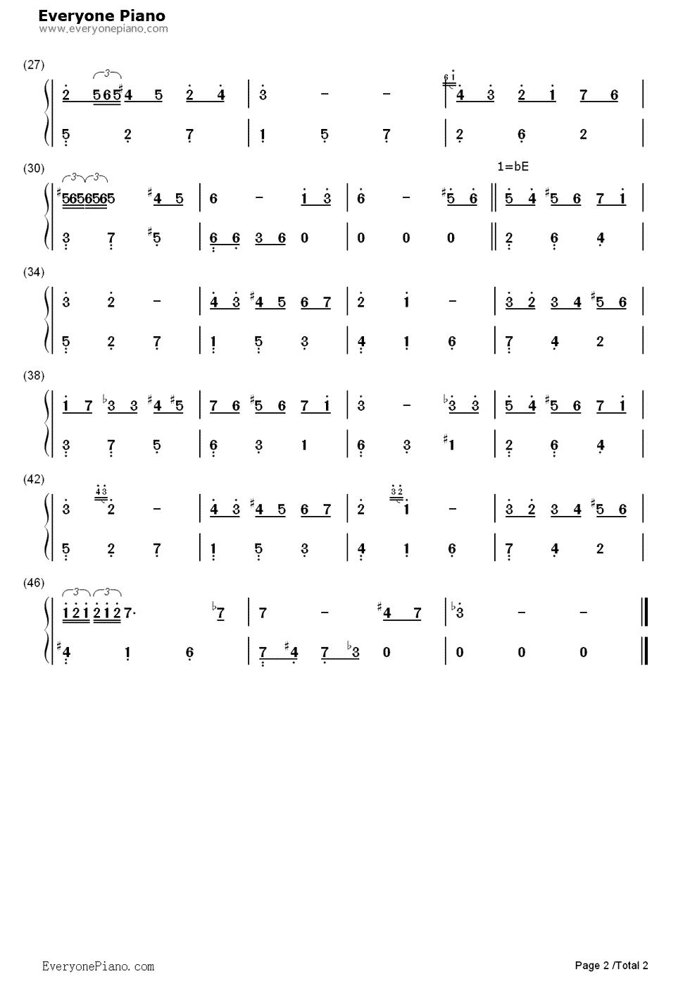 day-情人节双手简谱预览2-钢琴谱