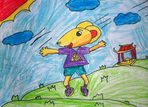 老鼠的美术图片图片