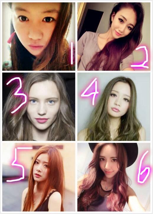 我想换发型,哪个更合适呀,求推荐呀,第一个是我自己,要理由哦,哪个