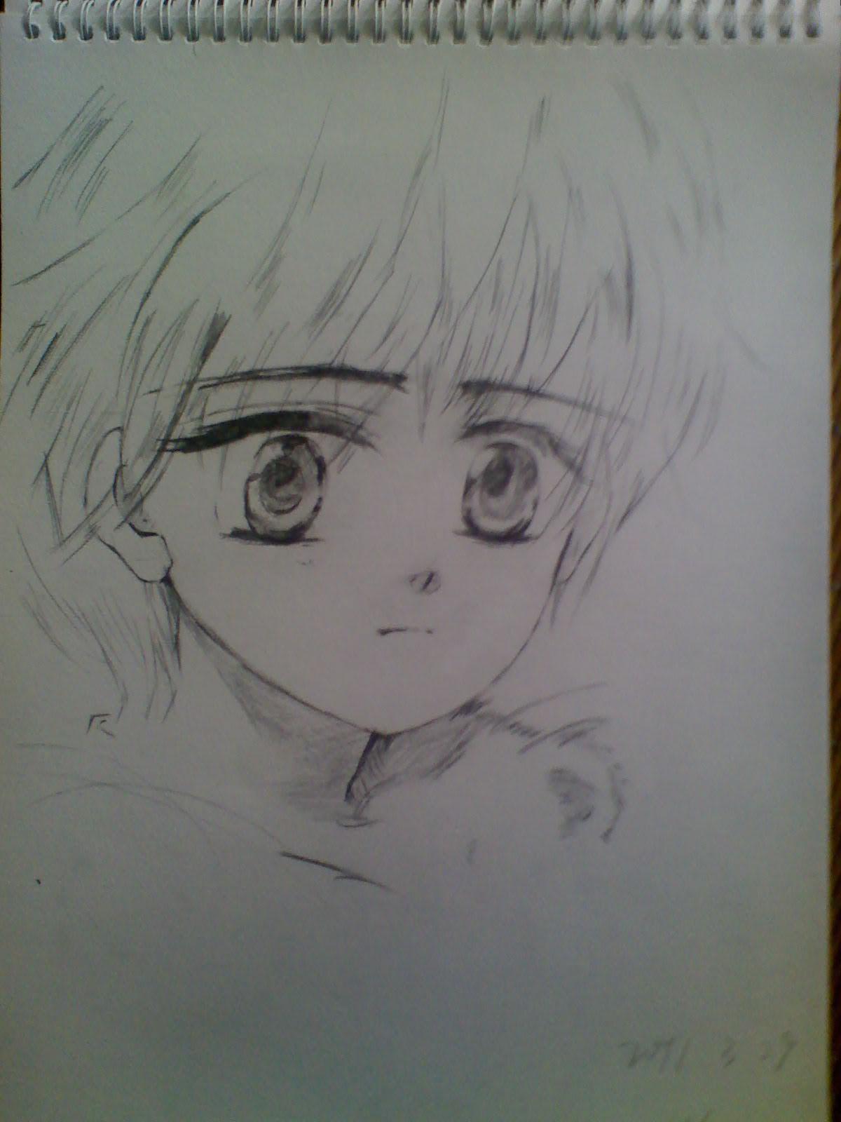 可爱动漫素描qq男生头像图片
