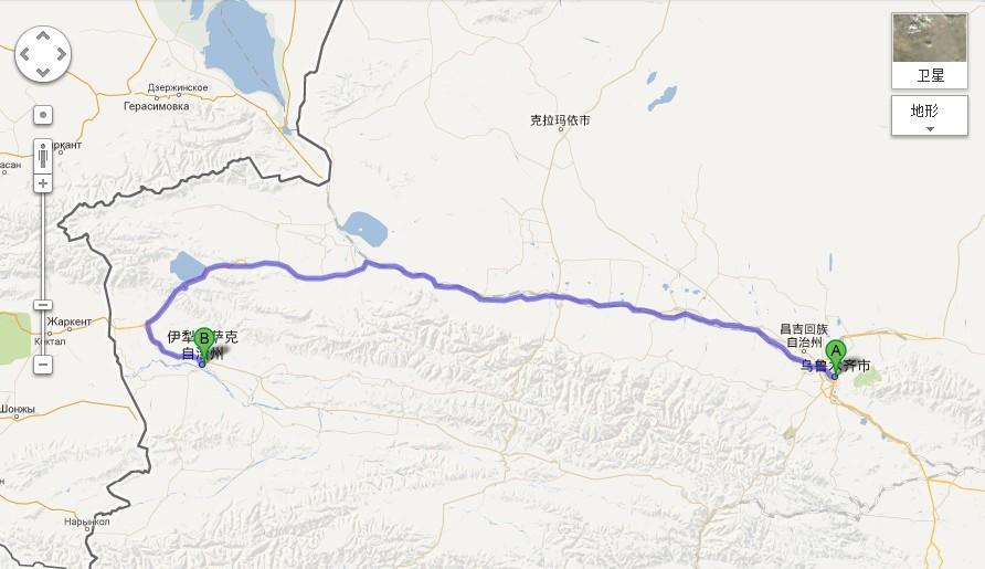 新疆伊犁到乌鲁木齐