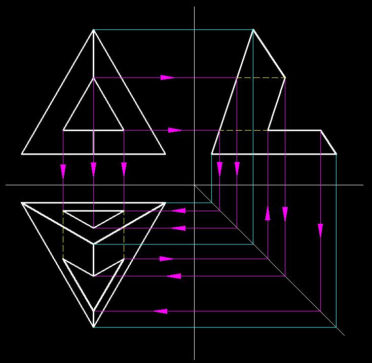 机械制图,底下的三角形怎么画?图片