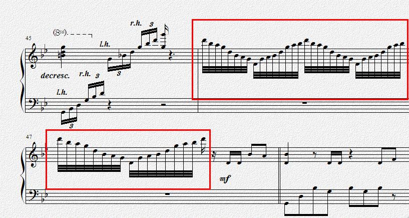 求钢琴大神标出红色方框内音符的指法!图片