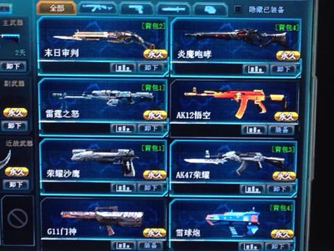 生死狙击人类英雄武器