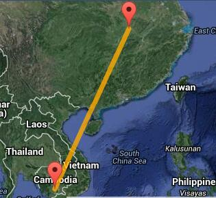 武汉到柬埔寨飞机