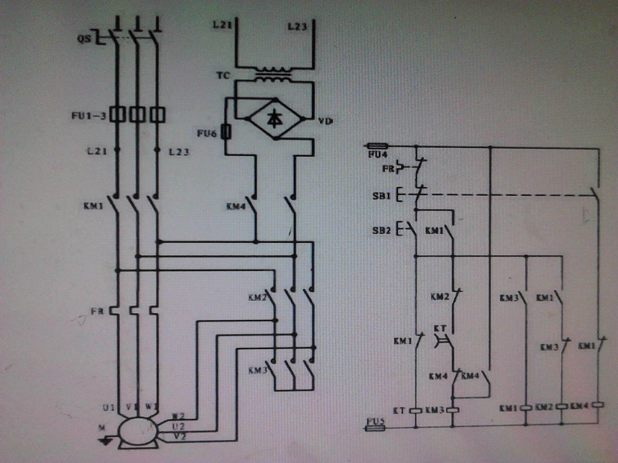 设计梯形图及PLC控制I/O口(输入/输出)接线图 -同问星三角降压启