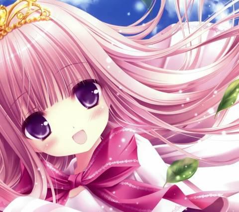 求几张粉红色动漫女孩图片,要可爱的,全身的
