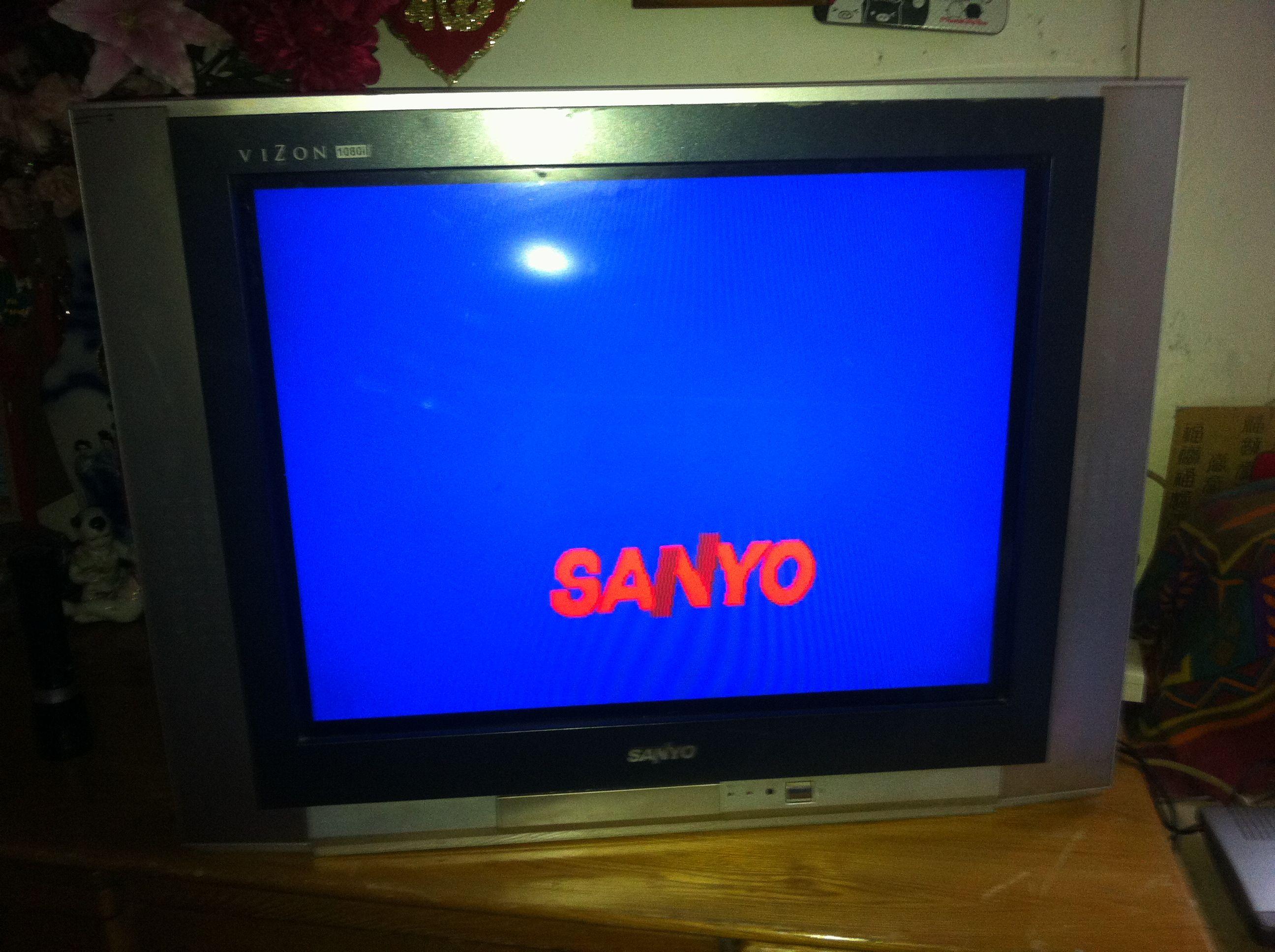三洋老款电视机 不能用机顶盒观看有线电视节目 求解决办法高清图片