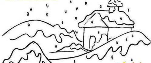 幼儿简笔画雪花图片