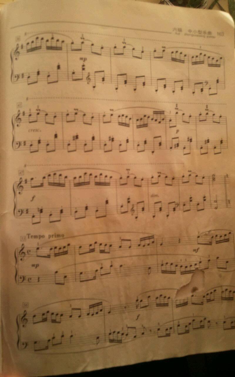 麻烦推荐几首钢琴曲子.最好有点难度图片