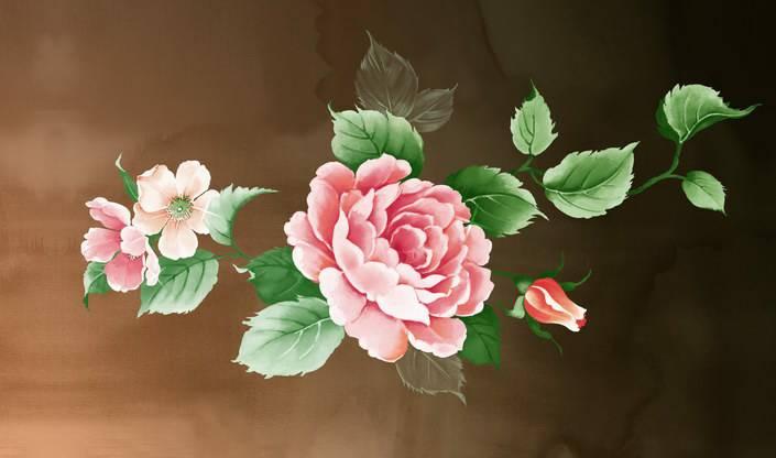 铅笔手绘花朵图片图片