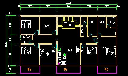 想盖个宽10米长11米的房子,房子后面是大街,想把大门面朝街里怎么设