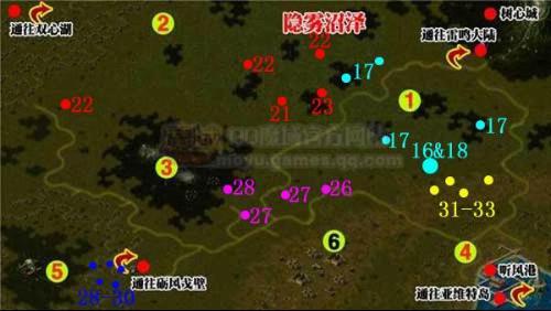 有谁知道魔域里树心城BOOS地图-0魔域boss坐标 魔域boss版 魔域