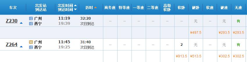 广州怎么去西宁
