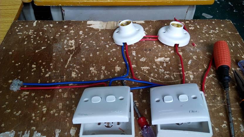 1,一个总开关控制全电路 2,一个开关控制一盏白炽灯 3图片
