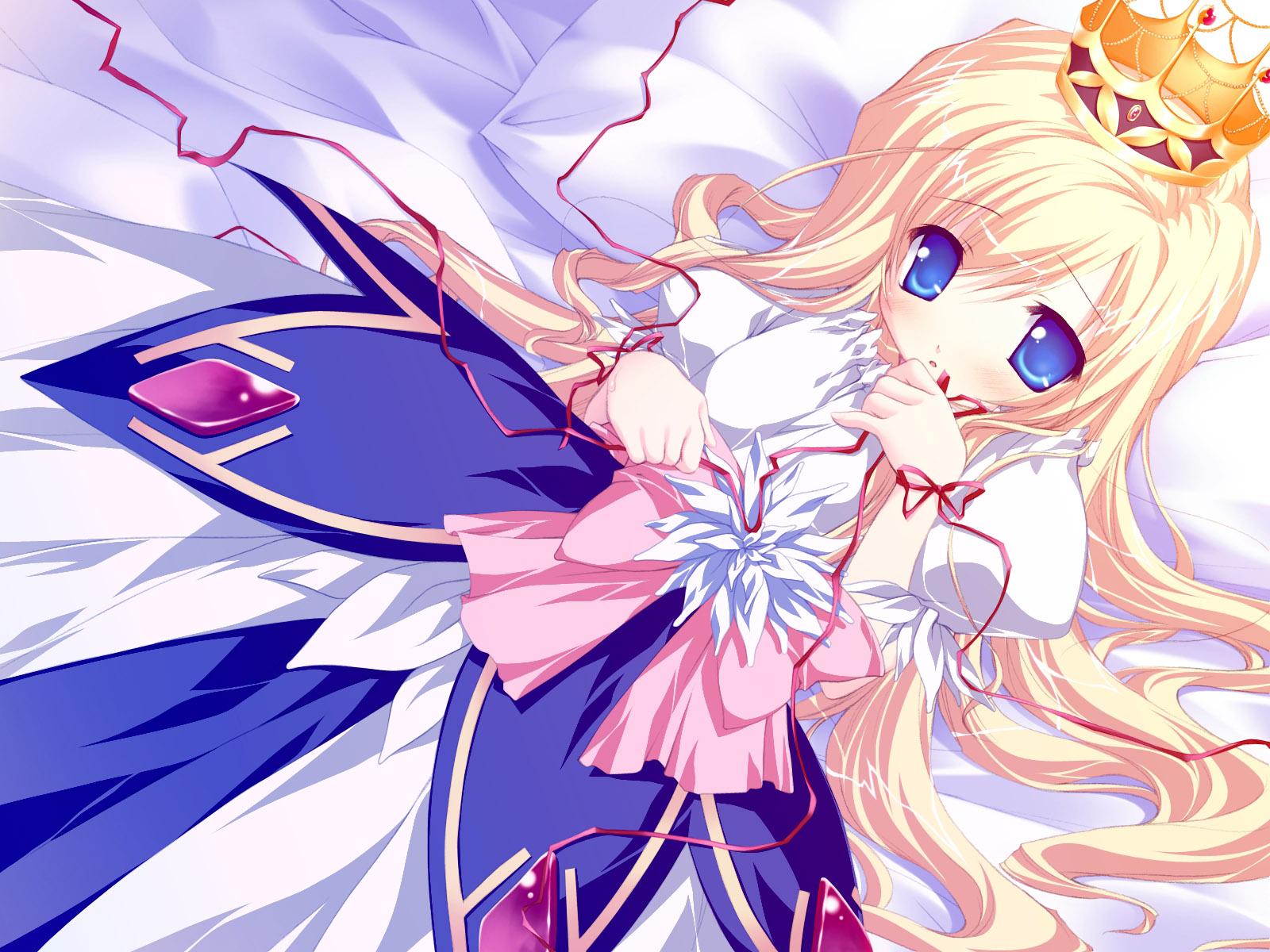 动漫人物 金色长发蓝色眼睛的公主