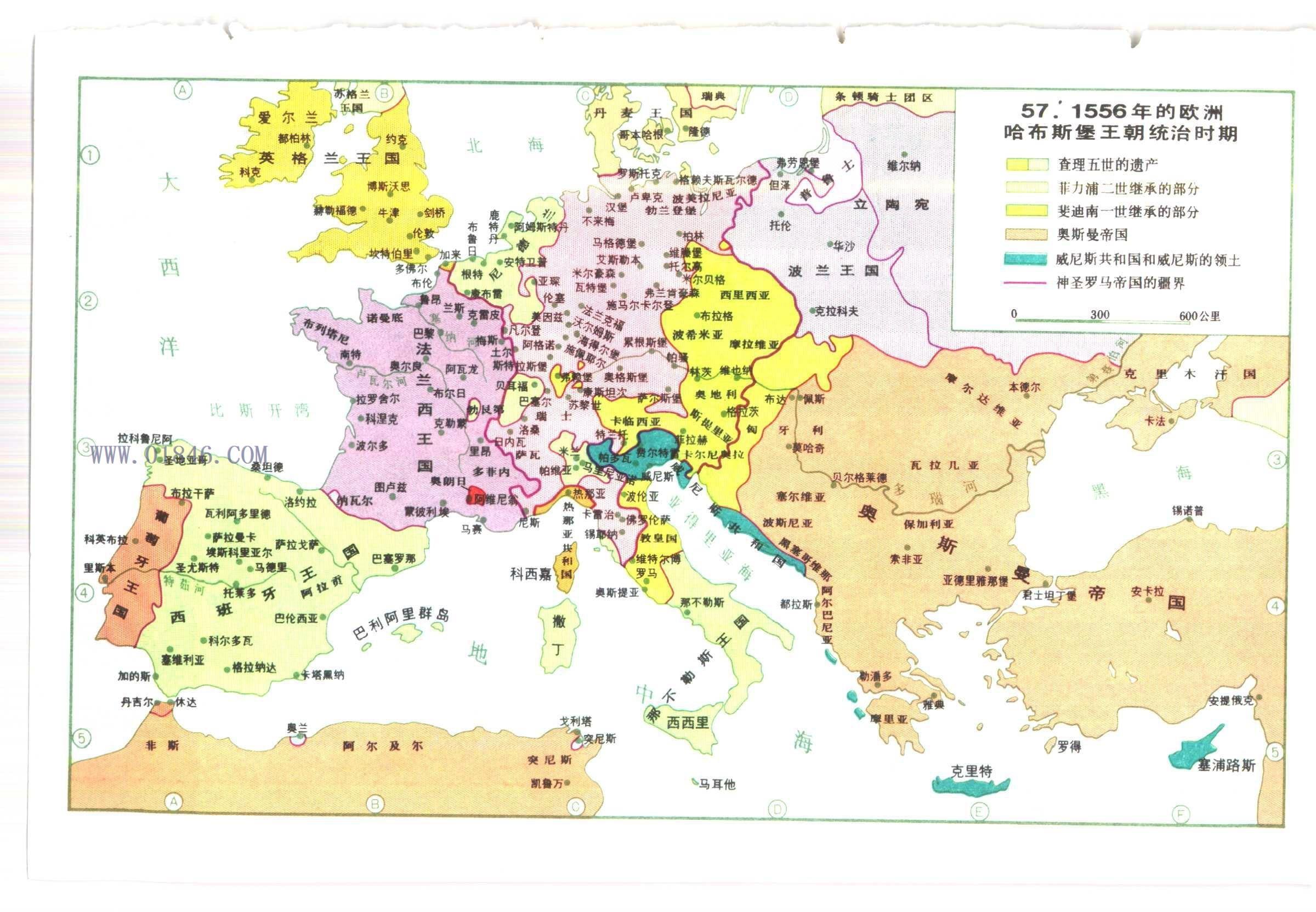 求欧洲历史地图册!比较好比较详细生动的!图片